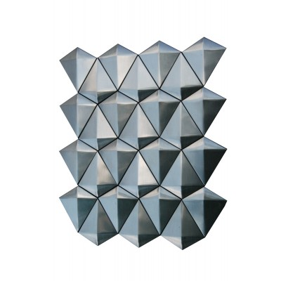 Diamond Stainless Steel 3D Interlocking Brushed Mosaic