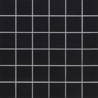 Domino Black 2X2 Matte Porcelain Mosaic Tile