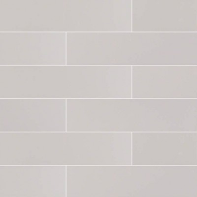Domino Gray Glossy 4x16 Subway Ceramic Tile