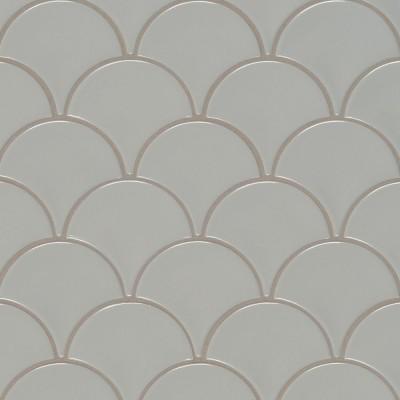 White Glossy Penny Round Mosaic
