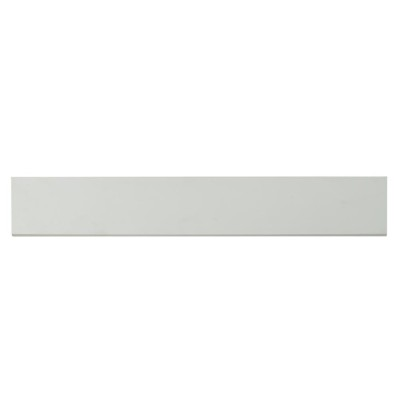 Domino White Bullnose 4x24 Polished Porcelain Tile