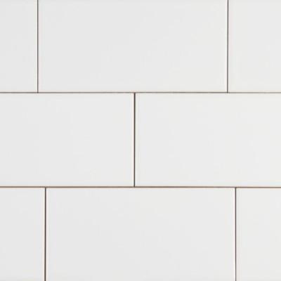 White Glossy 3X6 Glazed