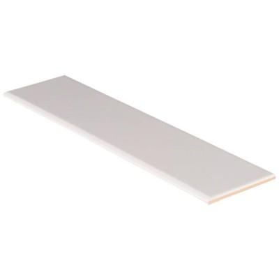 White Glossy 4X16 Single BullNose