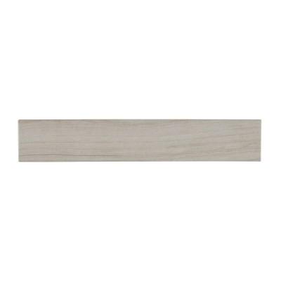 Eramosa Silver 3x18 Matte Bullnose Tile