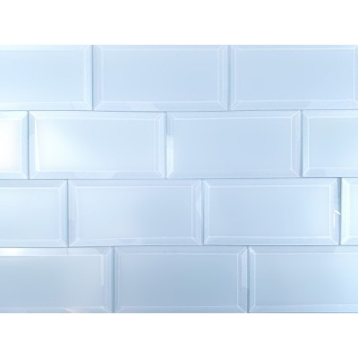 Frosted Elegance Catherine 3X6 Glossy Subway Glass