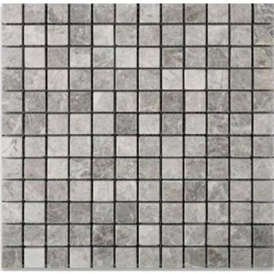 Gray Cloud 1x1 Polished Marble Mosaic