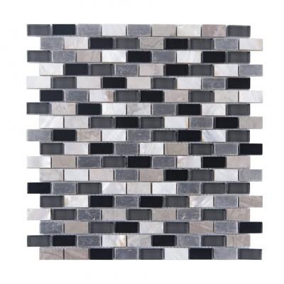 Grey Sequence 12x12 Glass Mix mosaic