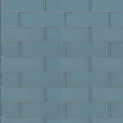 Harbor Gray 3x9 Backsplash Glass Subway Tile