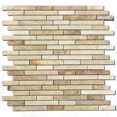 Crema Mocha Interlocking 12X12 Polished Mosaic