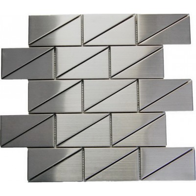 "Odyssey Subway 2""x4""  Stainless Steel Mosaic"