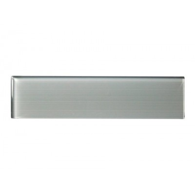 Space Gray Linen 3X12 Polished Glass Subway
