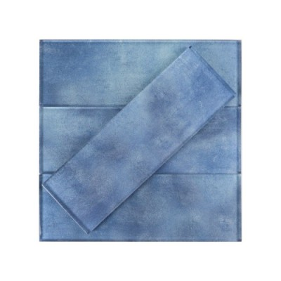 Medium Blue 3x9 Glass Subway Tile
