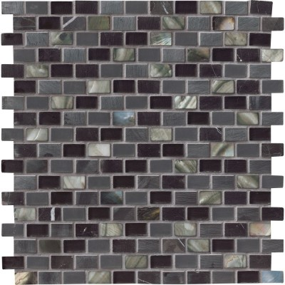 Midnight Pearl Mini Brick Pattern 8mm