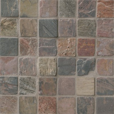 Mixed Slate 2x2 Tumbled