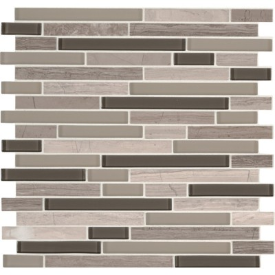Modello Grigio Interlocking Pattern Glass Stone Mosaic