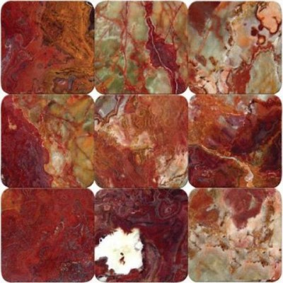 Multi Red Onyx 4X4 Tumbled