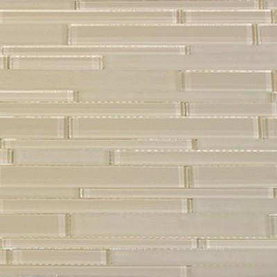 Nude Glass Mix 12x12 Random Strip Mosaic