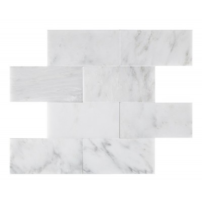 Oriental White Honed 3x6 Subway Tile