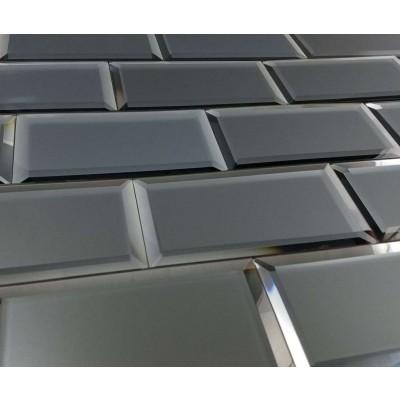 Reflections Graphite 3X6 Matte Glass Tile