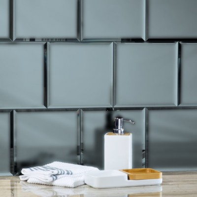 Reflections Graphite 8X8 Matte Glass Tile