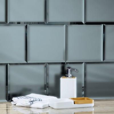 Reflections Graphite 8X8 Matte Glass Tile