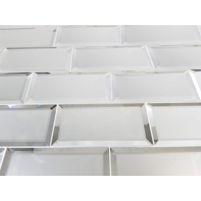 Reflections Silver 3X6 Matte Glass Tile