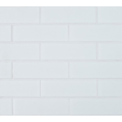 Retro Brick Bianco 2x6 Matte Subway Porcelain Tile