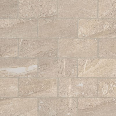 Sande Grey 2X4 Polished Porcelain Mosaic