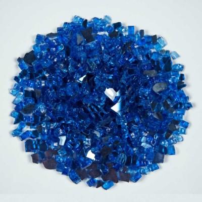Sapphire Blue 1.27 CM 20 LBS Crystal Reflective Fireglass
