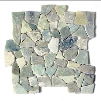 Sea Grass 12X12 Interlocking Designer Flat Collection Pebble Tile