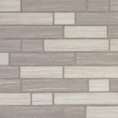 Silva Oak Interlocking Pattern Recycled Glass Mosaic