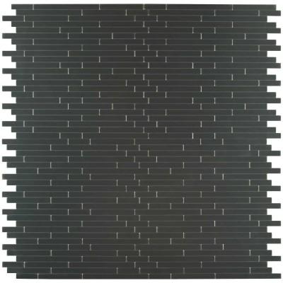 Silverina Interlocking 12X12 Peel And Stick Metal Mosaic
