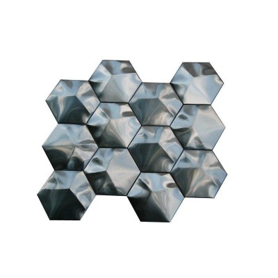 Stainless Steel 3D Interlocking 3 Hexagon Mosaic