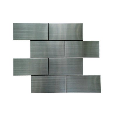 Stainless Steel 3x6 Flat Polished Subway