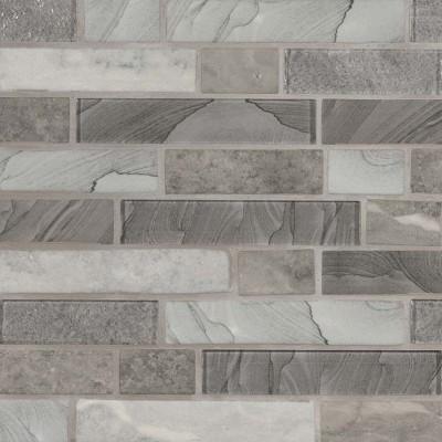 Tarvos Celano Interlocking Pattern Recycled Glass Mosaic