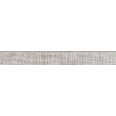 Tektile Crosshatch Gray 3X24 Matte Bullnose