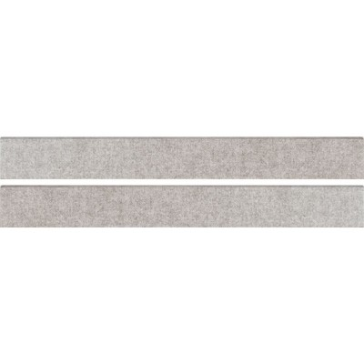 Tektile Hopsack Gray 3X24 Matte Bullnose
