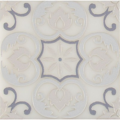 Tetris Florita Blanco 6x6 Polished Marble Wall Tile