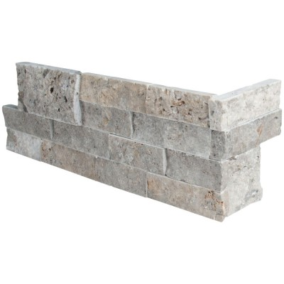 Trevi Gray 6X12X6 Split Face Corner Ledger Panel