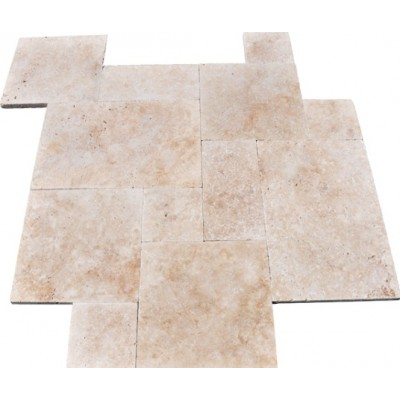 Tuscany Ivory Honed, Unfilled And Chipped French Pattern