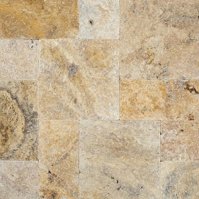Tuscany Walnut 6x12 Honed Unfilled Tumbled Paver