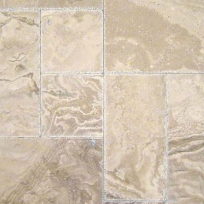 Tuscany Walnut Onyx Pattern Honed Unfilled Chipped 16 sqft