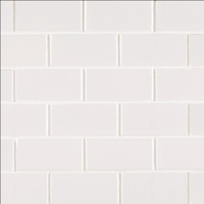 White Glossy 2X4 Staggered Subway Tile