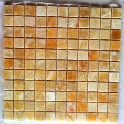 Yellow Onyx 1x1 Polished Mosaic
