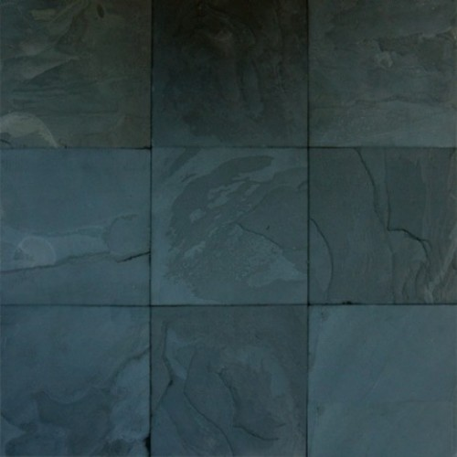 premium black classic 24x24 gauged slate tile