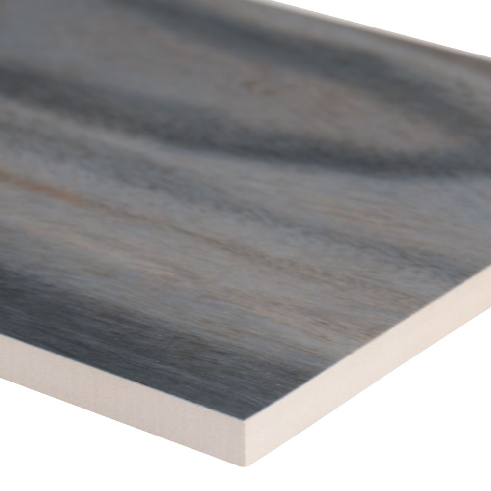 Dellano Exotic Blue 8x48 Polished Wood Look Porcelain Tile
