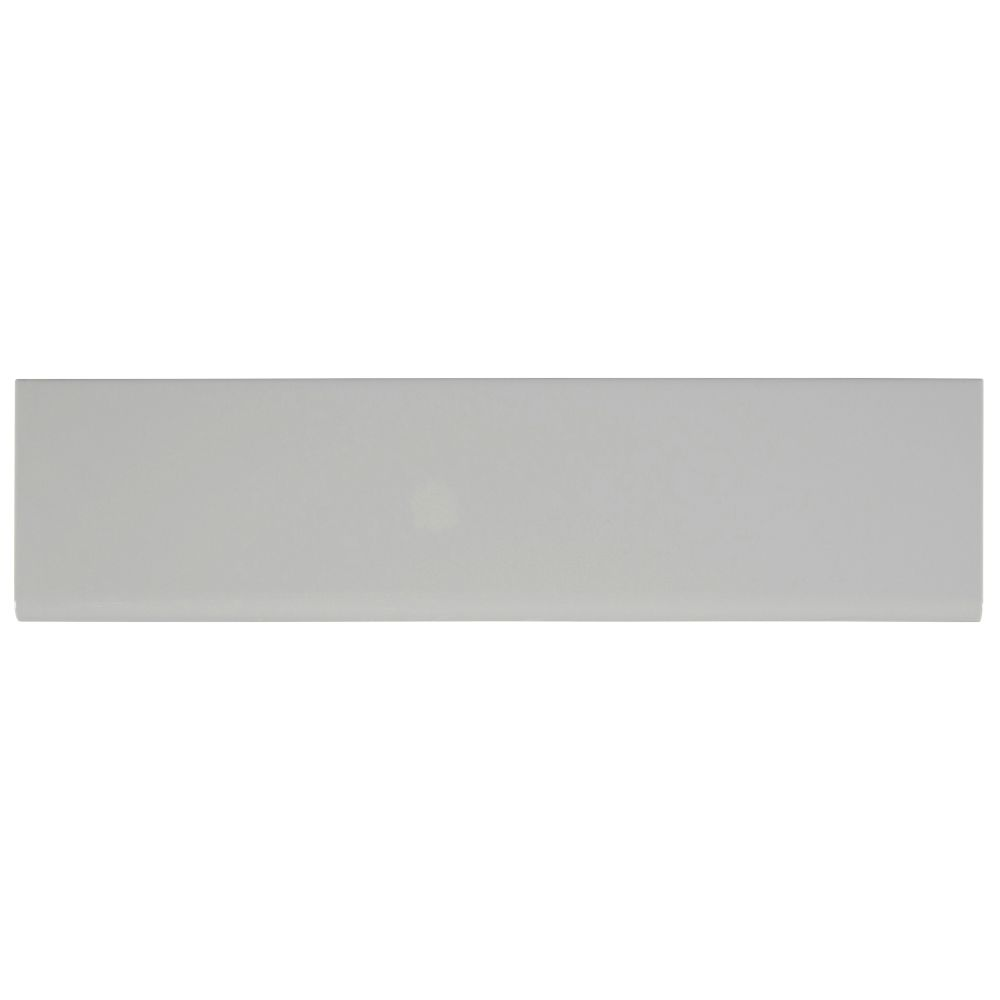 Domino Gray 4X16 Glossy Single Bullnose Ceramic Tile