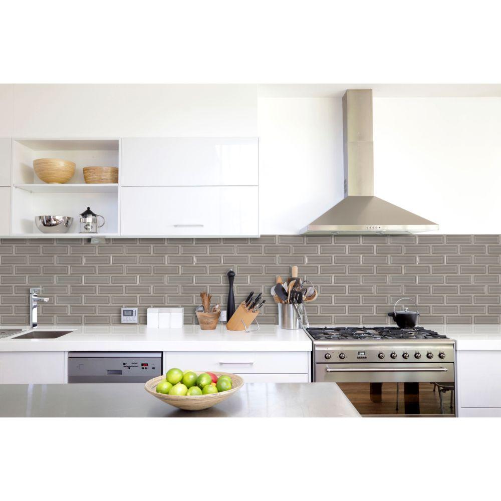 Dove Gray 2x6 Bevel Subway Ceramic Tile Tilesbay Com