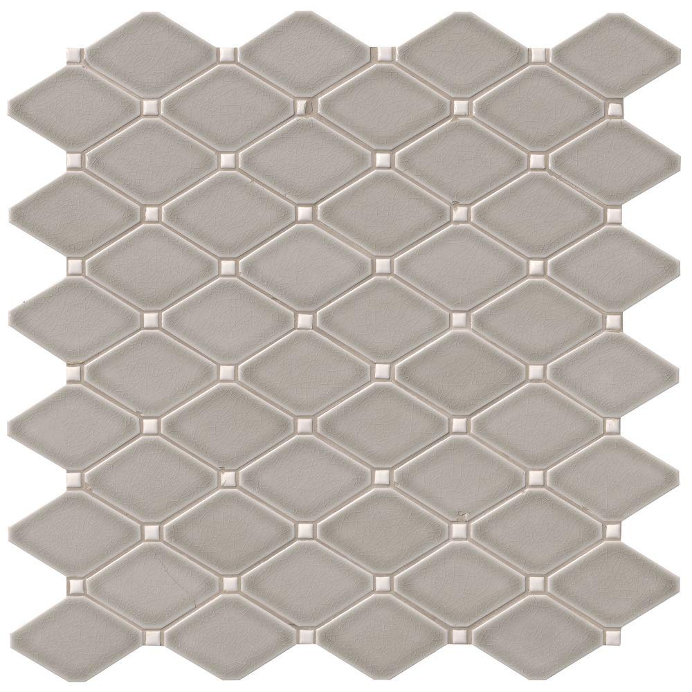 Dove Gray Diamond 12x12 Glossy Mosaic Tilesbay Com