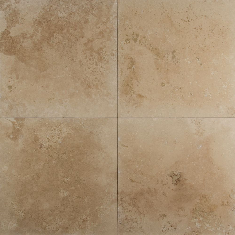 Durango Cream 18X18 Honed / Filled Travertine Tile